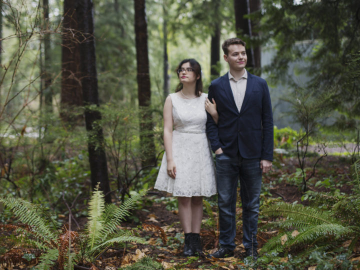 Great outdoor wedding options in the rain: The forest!