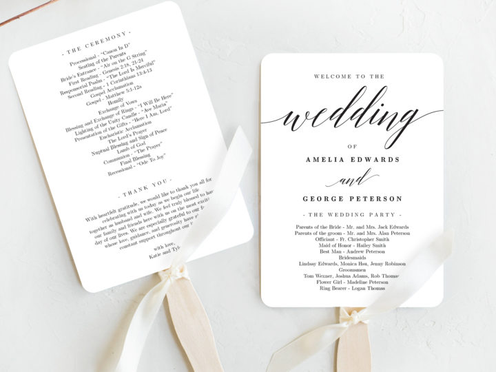 Do You Need Wedding Ceremony Programs?