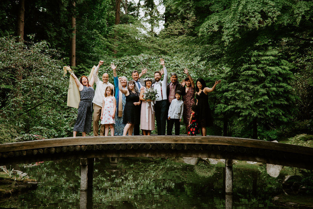Family celebrating a wedding; not letting family opinions about your wedding get in the way