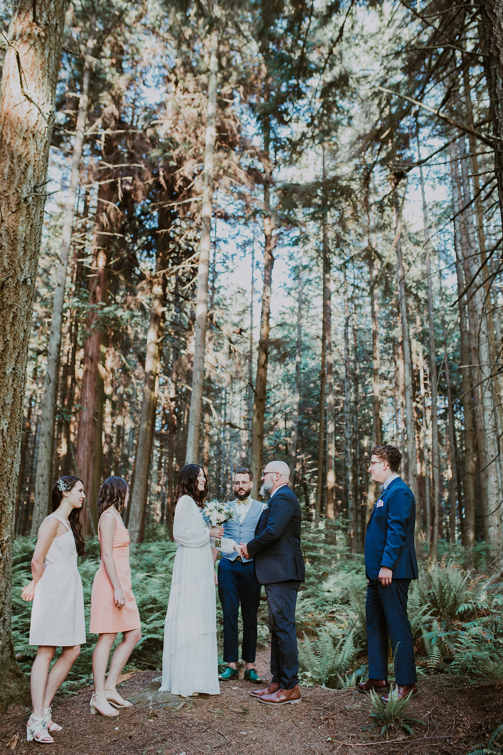 Family wedding in Stanley Park