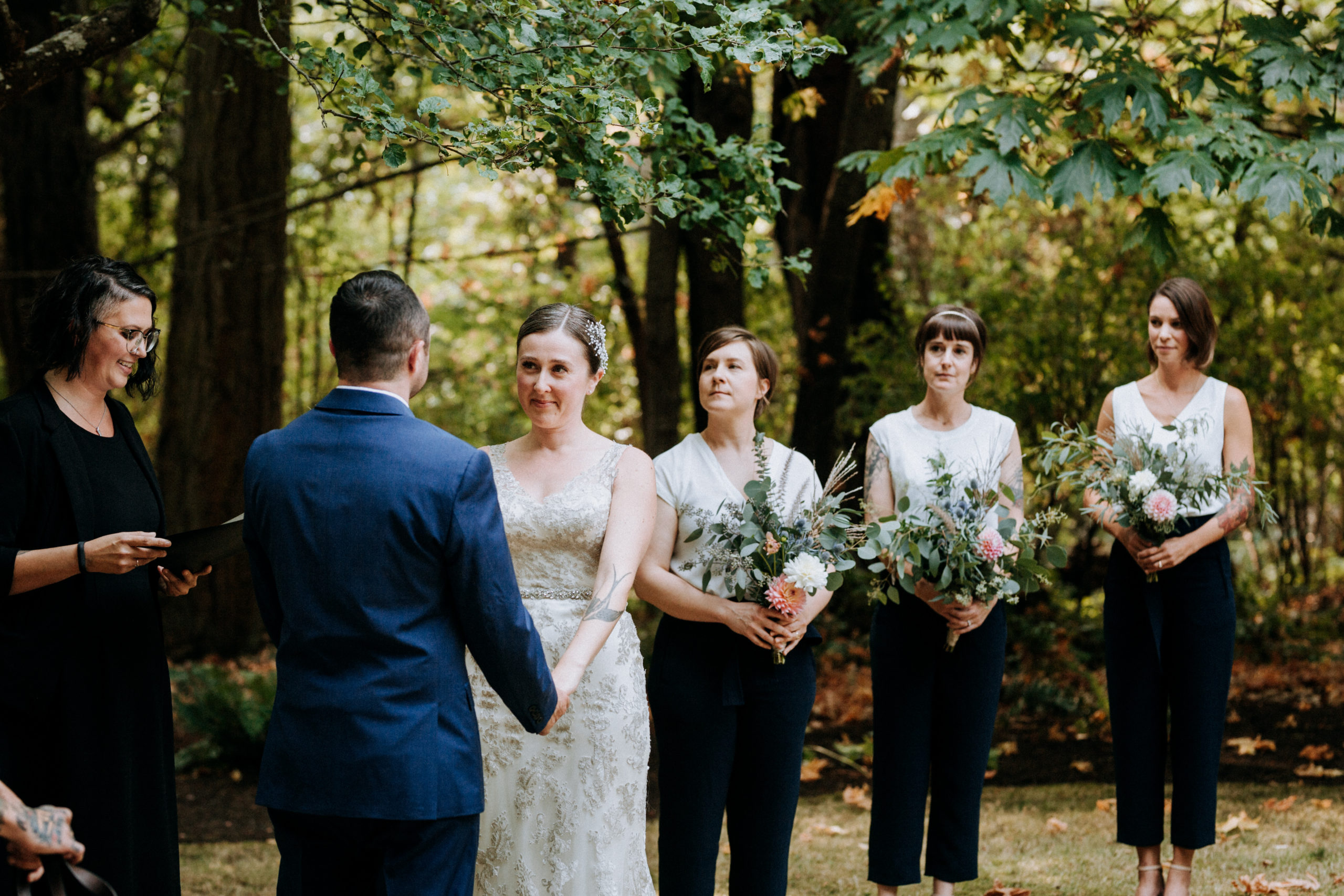 Victoria wedding with Officiant Chris-Ann from Young Hip & Married