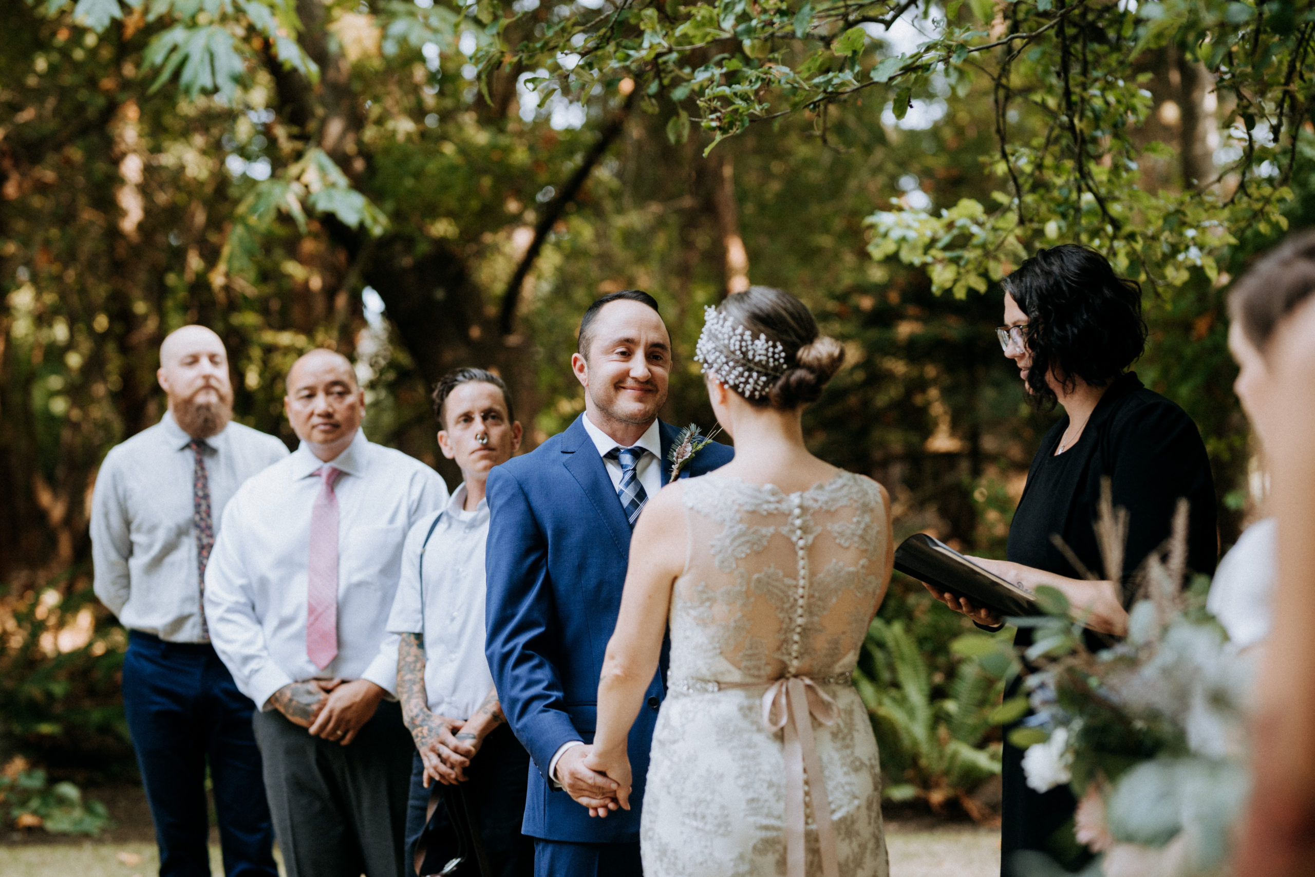 Vancouver Island wedding with Officiant Chris-Ann