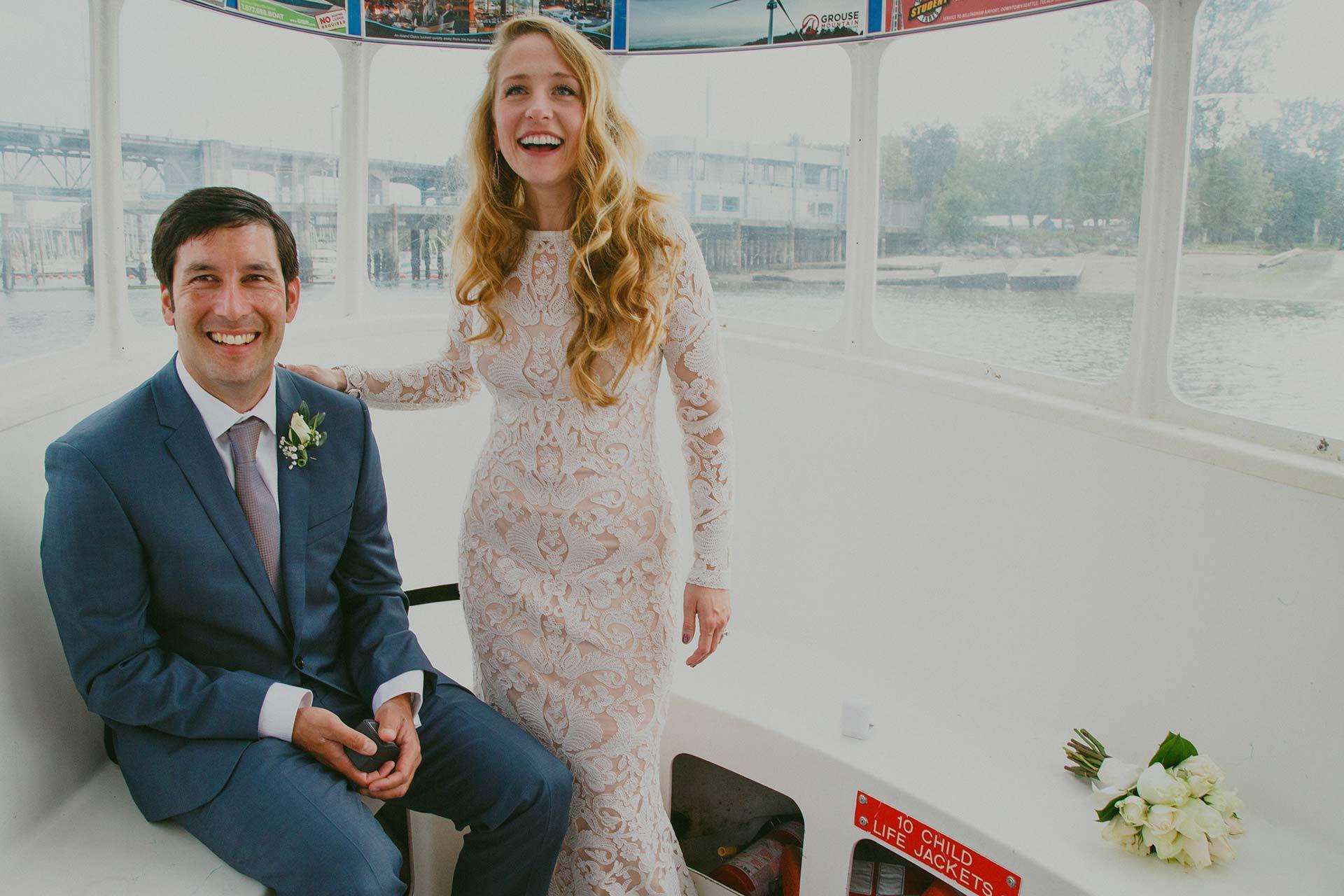 Vancouver Aquabus wedding