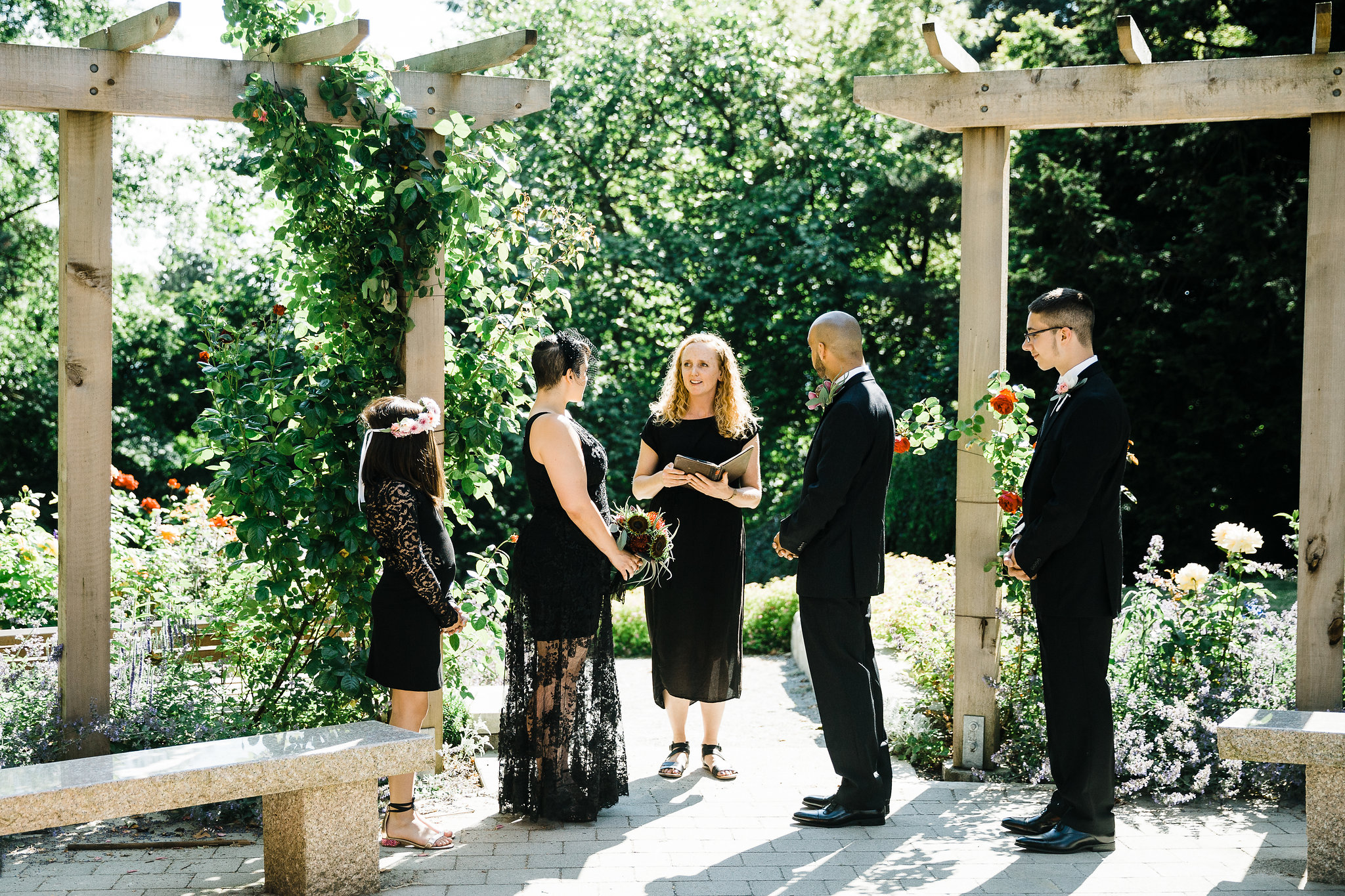 Vancouver elopement at Carisbrooke Park with Young Hip & Married officiants and marriage commissioners