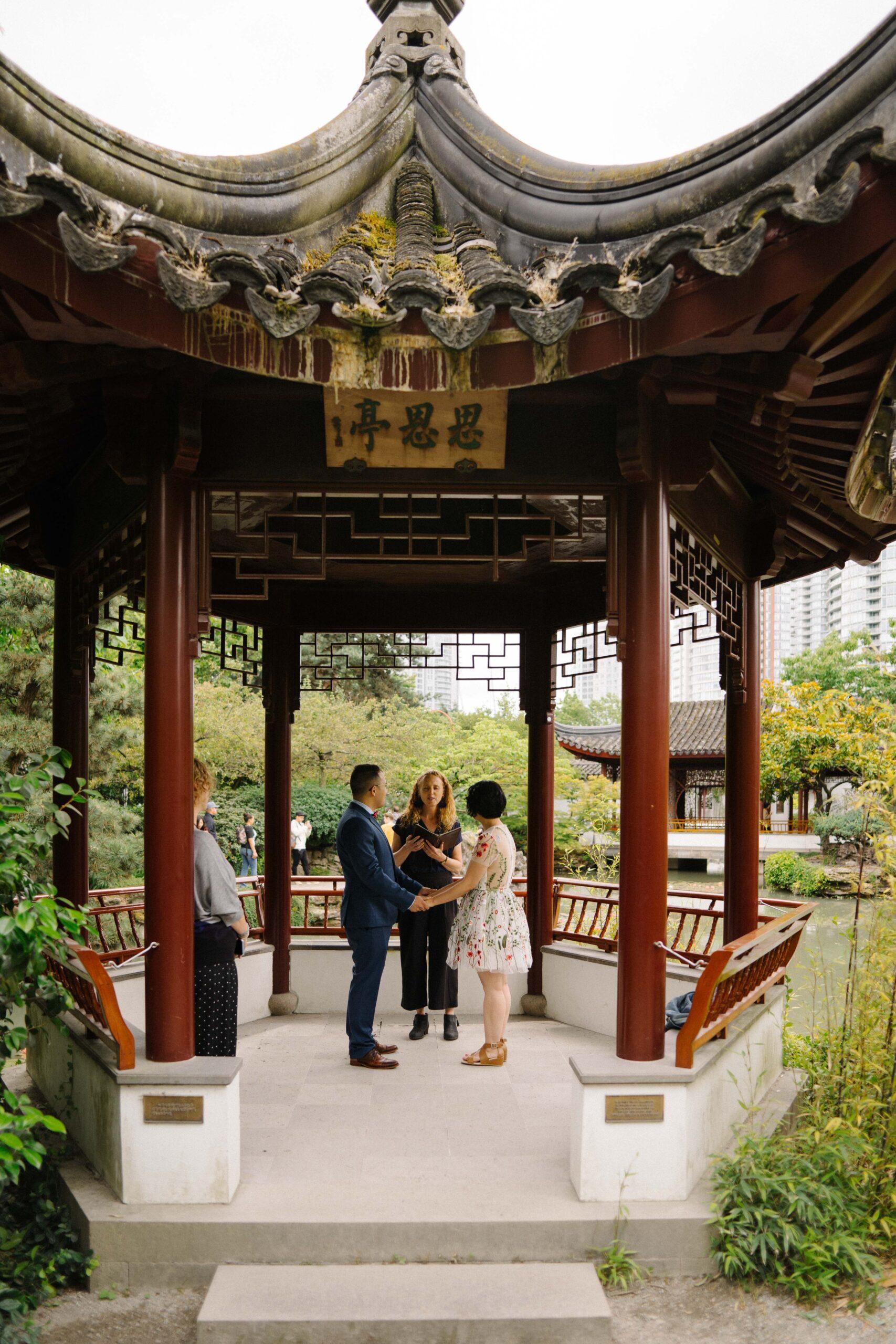 Dr. Sun Yat Sen Chinese Gardens wedding