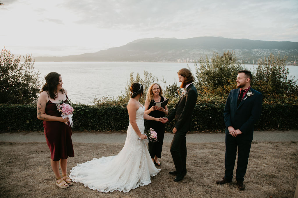 Young Hip & Married Vancouver elopement at Ferguson Point