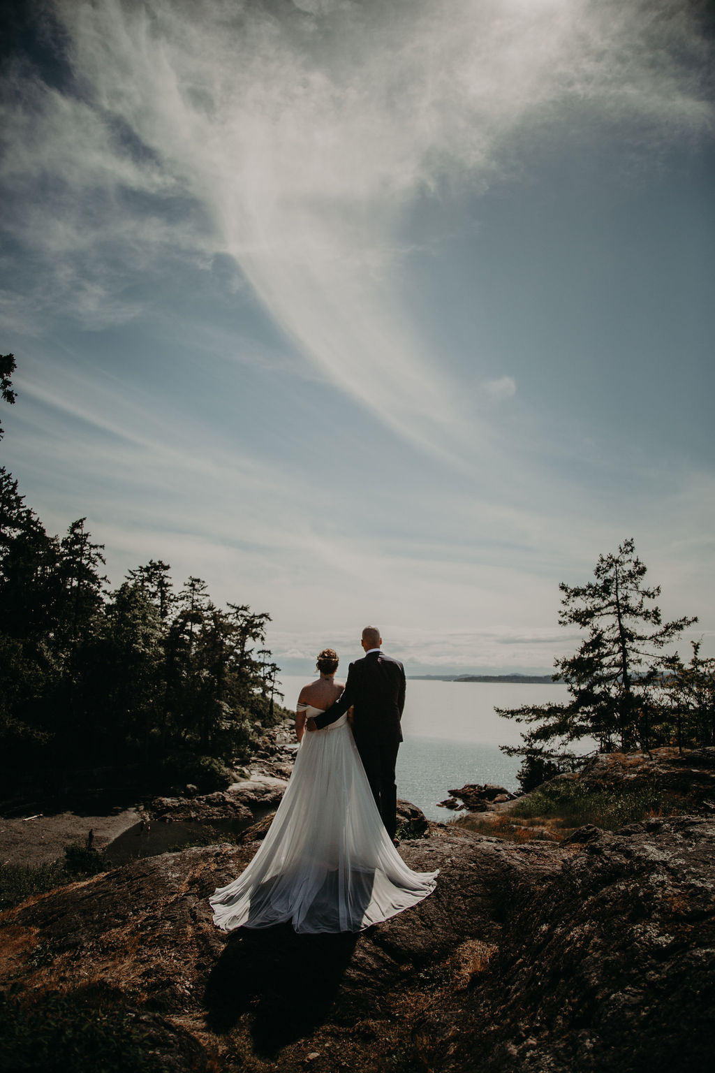 Saxe Point Park viewpoint and elopement in Victoria with Young Hip & Married