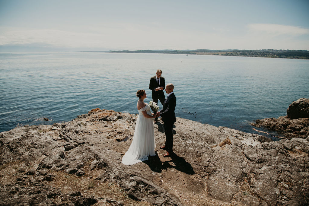 Saxe Point Park elopement in Victoria with Young Hip & Married