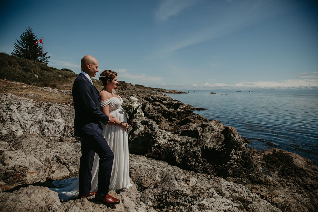Saxe Point Park wedding in Victoria with Young Hip & Married
