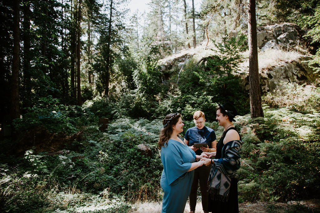 Young Hip & Married Vancouver elopement at Lighthouse Park