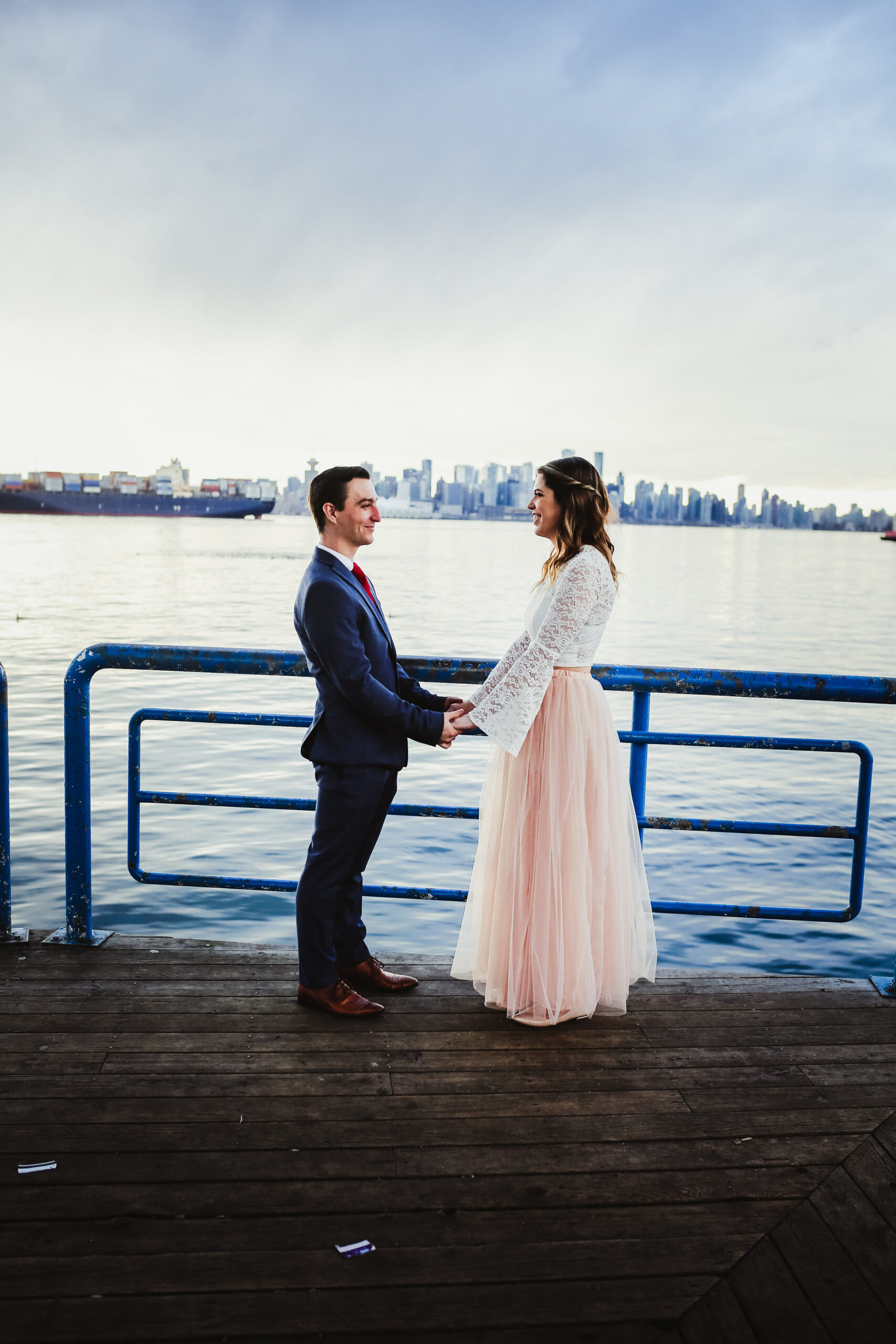 Lonsdale Quay elopement with Young Hip & Married officiants