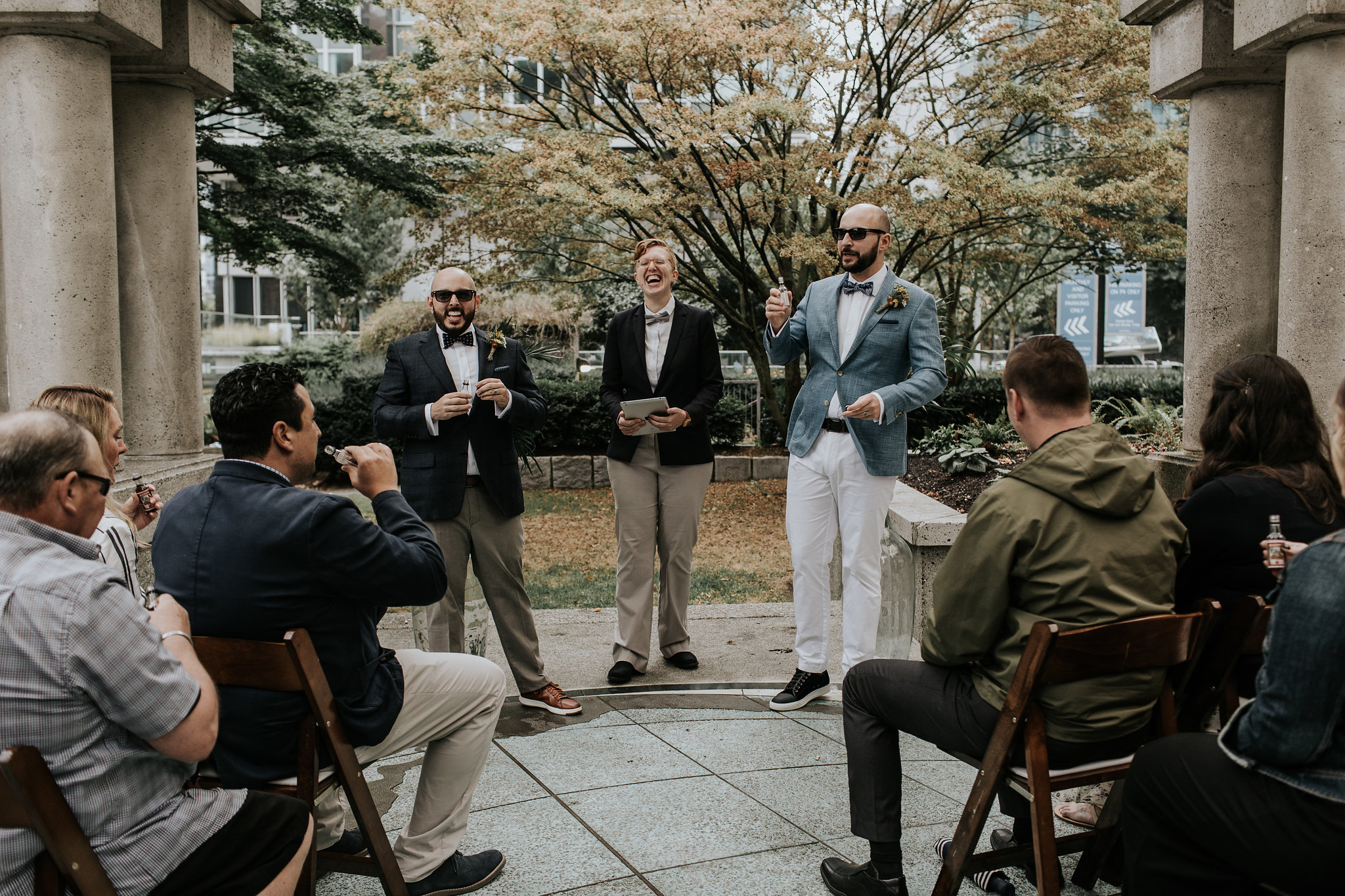 Portal Park Vancouver wedding with Young Hip & Married officiants
