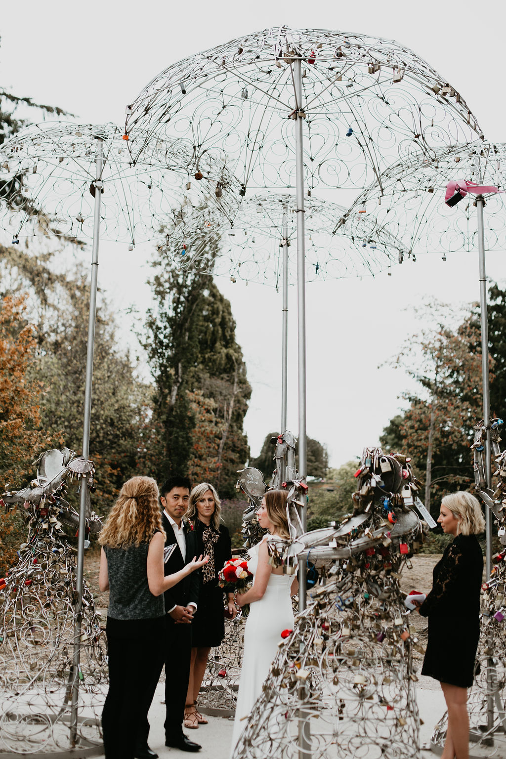 Queen Elizabeth Park Vancouver wedding with Young Hip & Married officiants