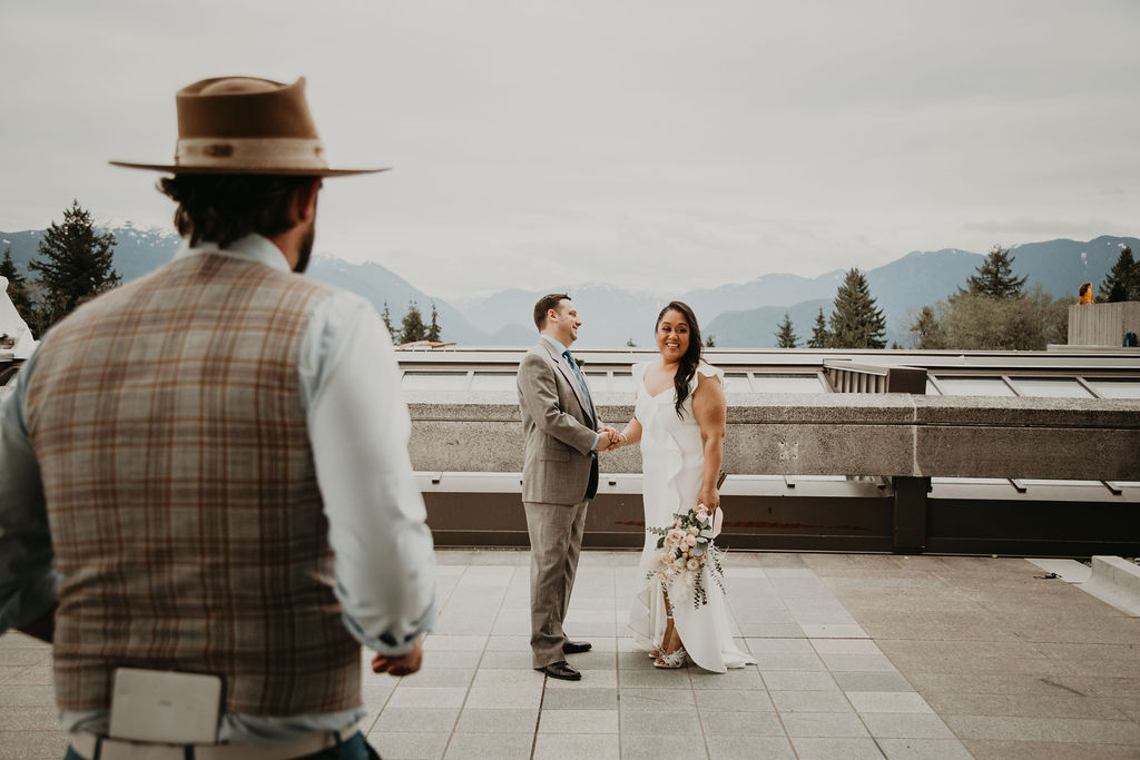 Vancouver elopement at SFU campus with Young Hip & Married