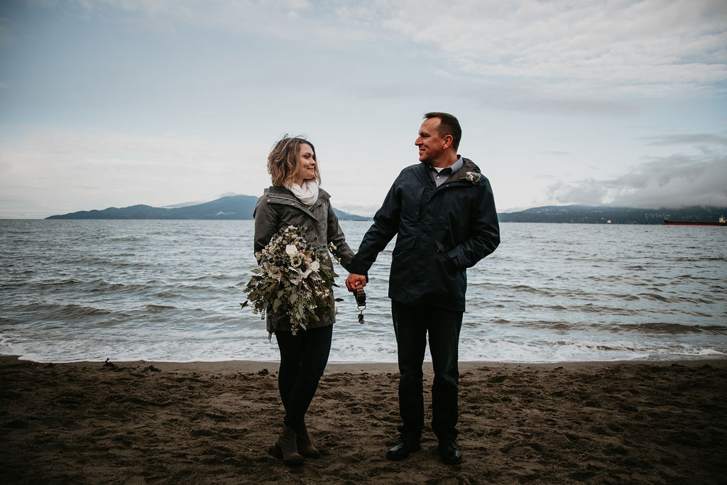 Vancouver elopement at Spanish Banks