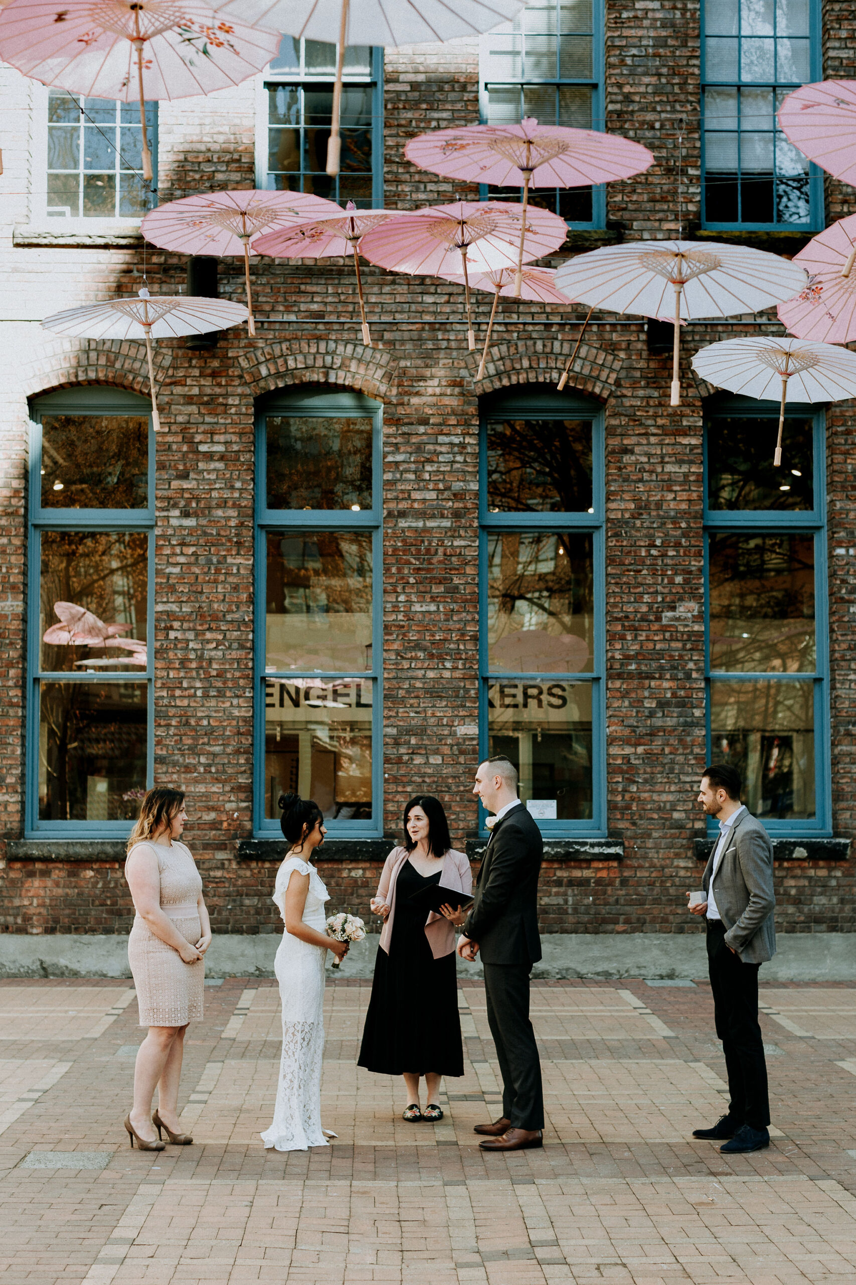 Yaletown elopement with Young Hip & Married