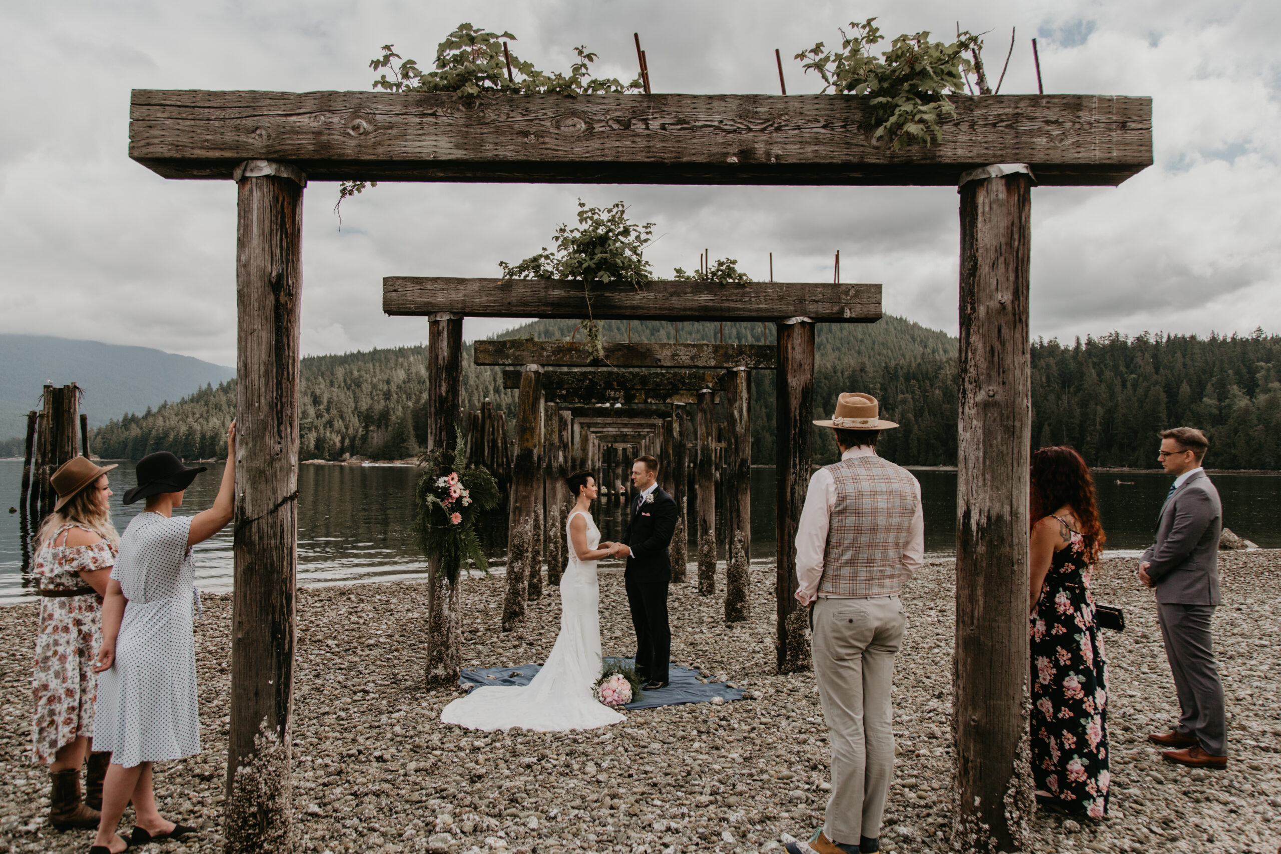 Vancouver wedding at Barnet Marine Park with Young Hip & Married