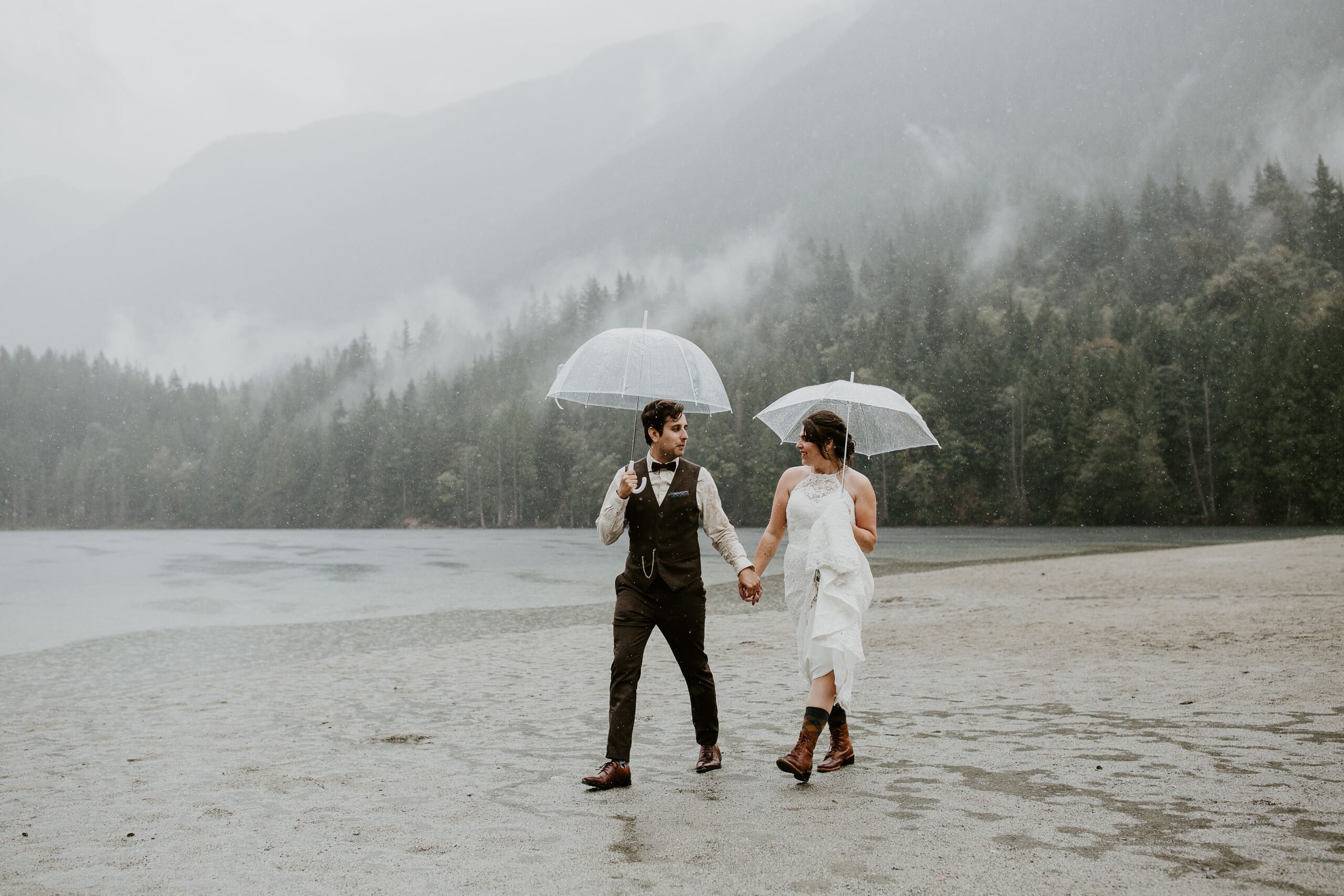 Young Hip & Married elopement at Buntzen Lake