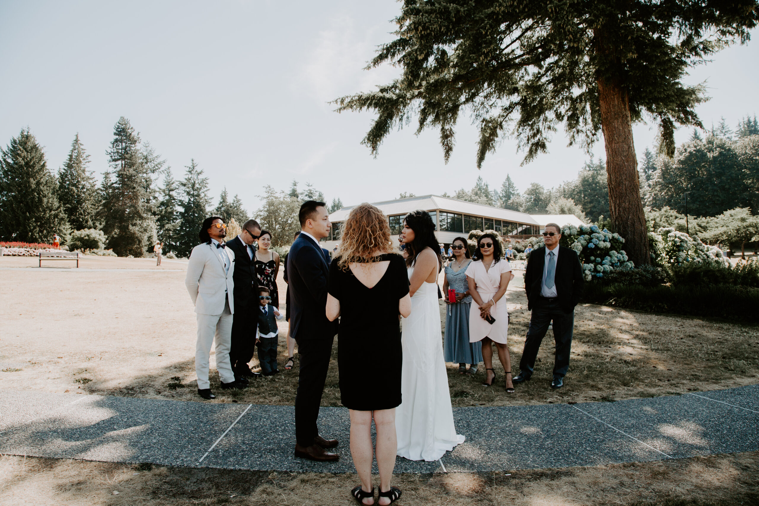 Vancouver elopement at Burnaby Mountain with Young Hip & Married
