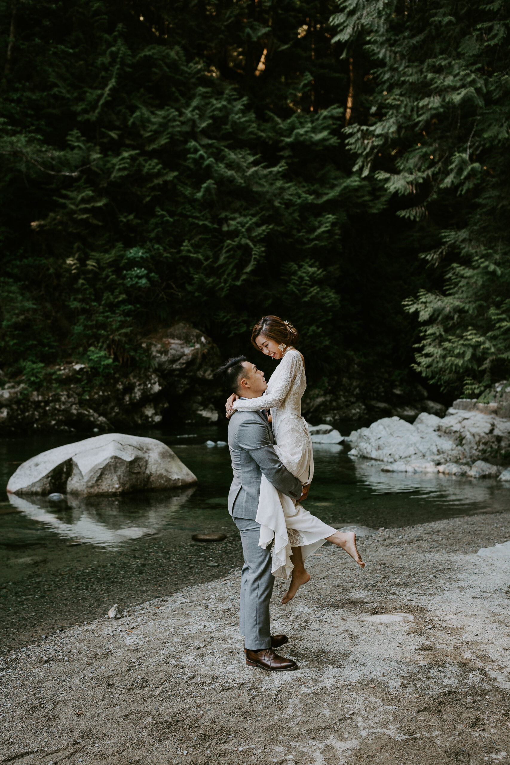 Vancouver elopement at Lynn Canyon