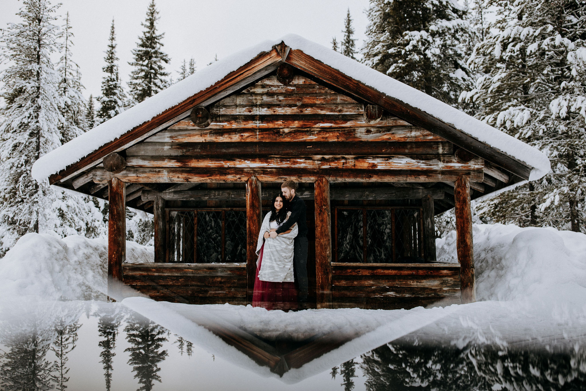 Manning Park elopement in winter