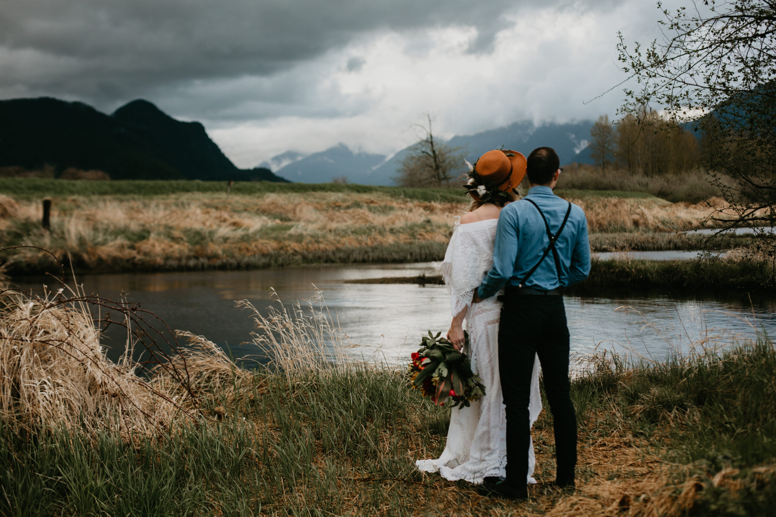 Pitt Lake elopement with Young Hip & Married
