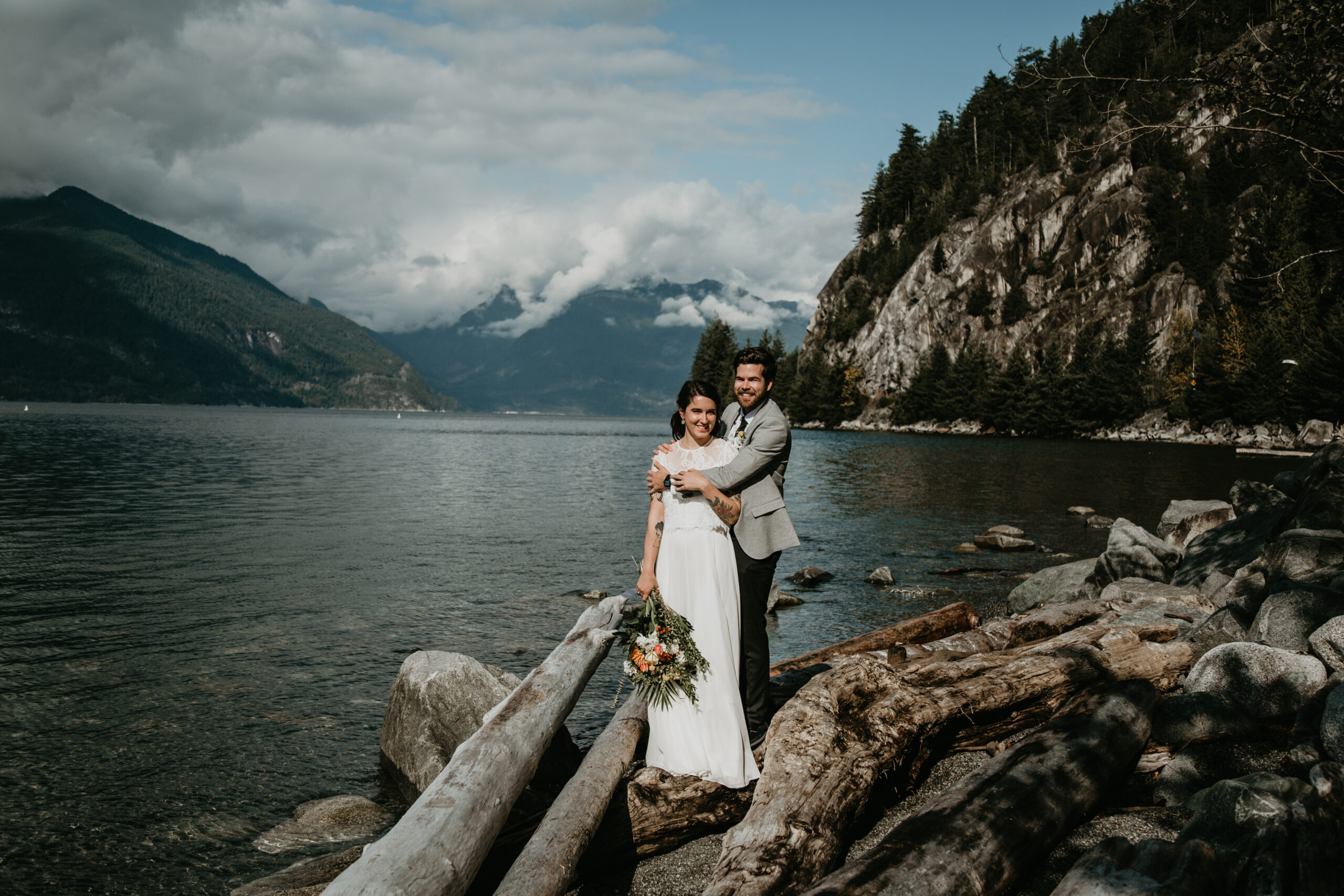 Vancouver elopement at Porteau Cove with Young Hip & Married officiants