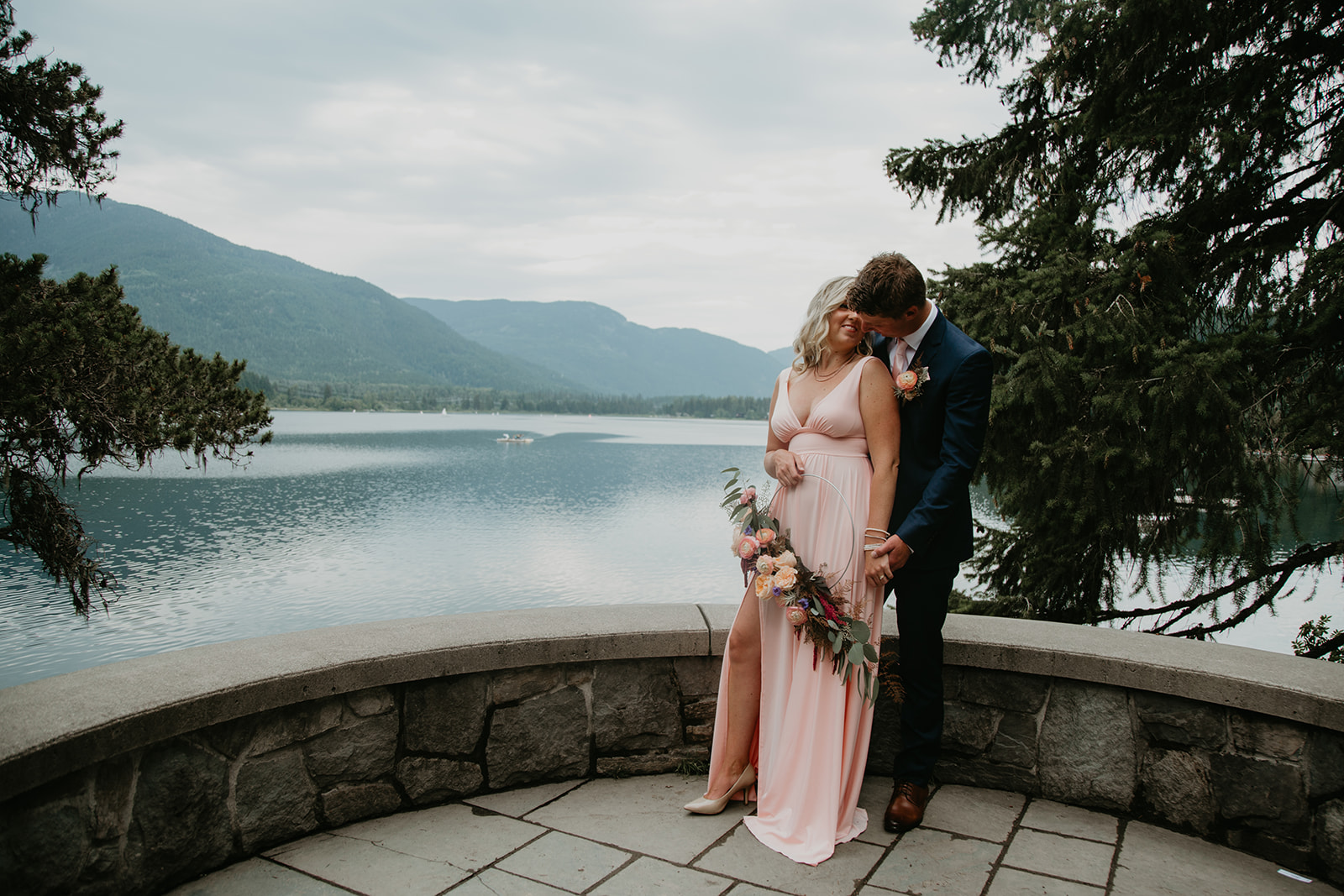 Whistler elopement at the Stone Circle at Alta Lake