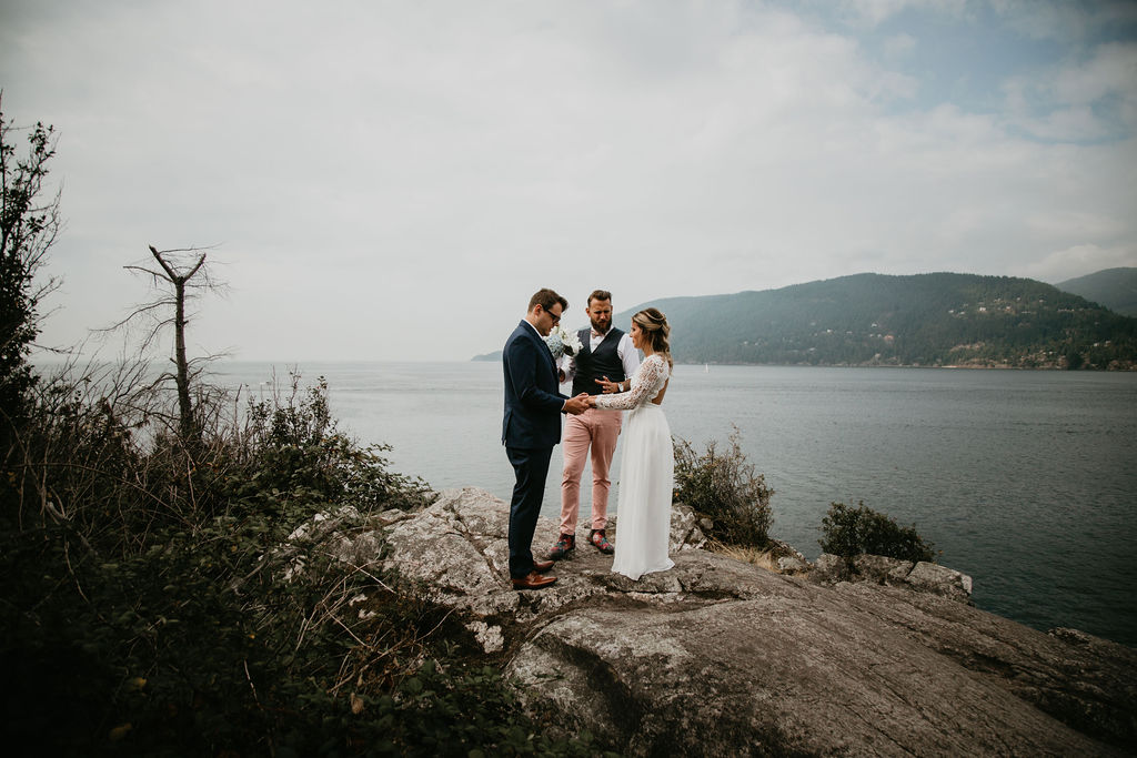 Whytecliff Park elopement with Young Hip & Married Vancouver officiants and marriage commissioners