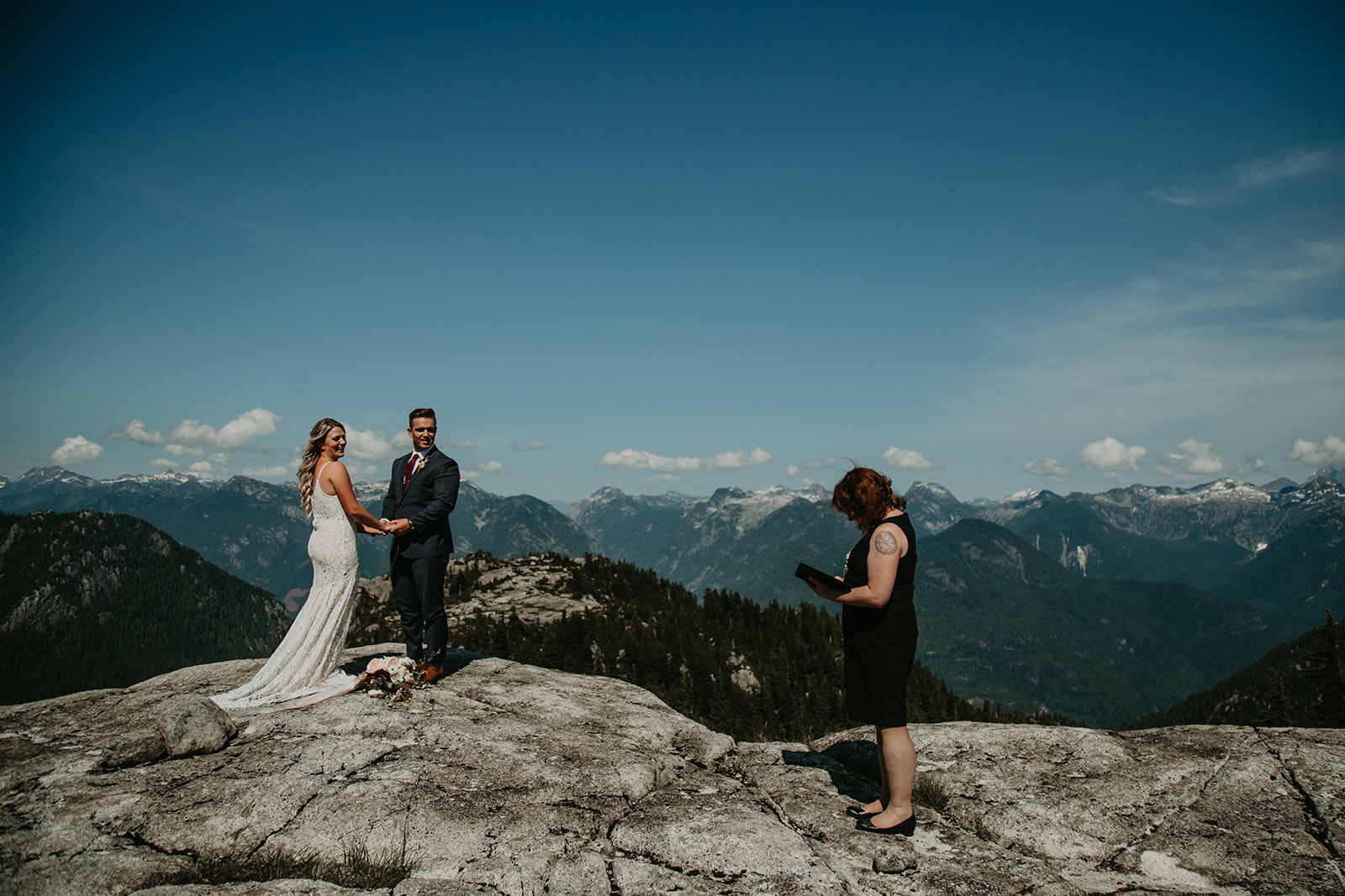 If you choose to elope now and party later, you can elope on a mountaintop with Young Hip & Married Vancouver officiants!