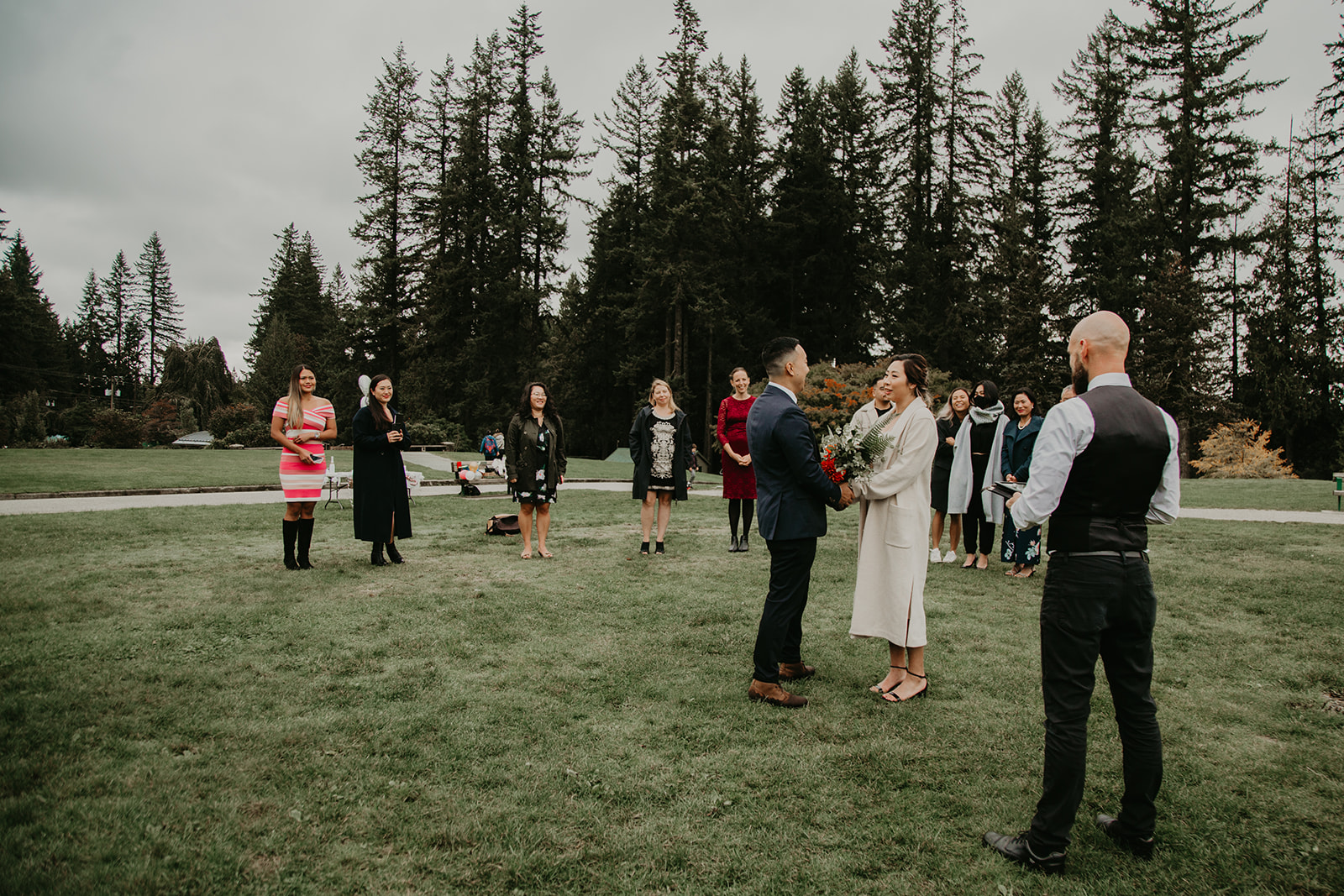 Vancouver micro wedding with friends and family and Young Hip & Married officiant